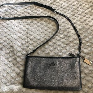 Coach crossbody bag- pewter